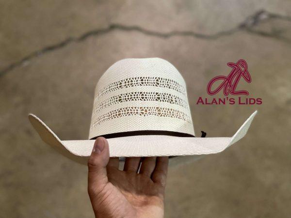 """IMG 5967 <ul> <li>Alan's Lids Straw</li> <li>Quality: 20X</li> <li>Brim: 4 1/4""""</li> <li>Comes open crown and brim to be custom shaped for every customer</li> </ul>"""